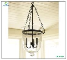E27 220V clear glass pendant light for dining room decoration