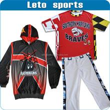 custom sublimation baseball jerseys/fast pitch baseball uniform