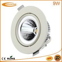 2014 project designed,Epistar, Bridgelux,cut out80,85,90mm,PF0.9,CRI80,10w,230v 240v,dimmable cob 8w round led downlight