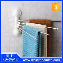 bathroom rotated towel rack shelf with suction cup rack