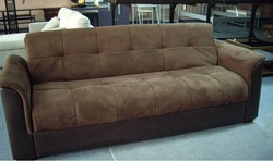 fabric + PU sofa bed S025 / modern sofa bed S025 / big sofa bed S025