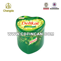 Food Grade Multicolour Heart Shaped Candy Tin Box for wedding
