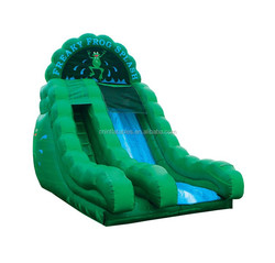 funny attractive freaky frog inflatable dry/wet slide on sale
