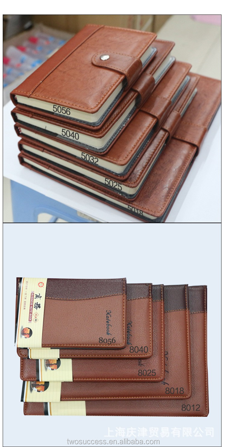 Excellent Handmade PU Leather Custom Paper Notebook .jpg