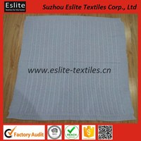 Solid Colour 100% Cable Knitted Bedspread