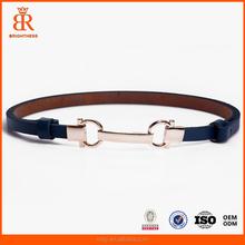 Cheap PU fashion women/men belt with zinc alloy buckle