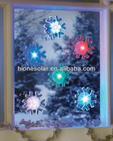 LED Color Changing Flashing Suction Cup Snowflakes light