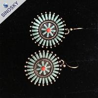 2015 Design Jewelry Women's cheap fake Double Side Shining Jewellery Earrings
