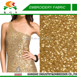 2016 new wholesale sequin fabric, sequin embroidery fabric for party dress