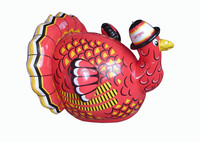 PVC Inflatable water toy for kids,red turkey toy for kids with high quality,inflatable pool toys indoor