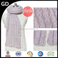 GDKK0056 classy Korean twist of knitting woolen yarn winter woman scarf