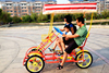 Good quality 2 and 4 seat surrey pedal car made in china