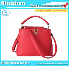 korea fashion ladies leather brand name handbags wholesale tote bags