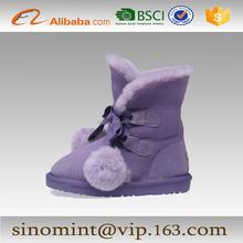 2015 newly design sheepskin kids snow boots