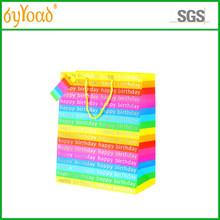 rainbow color kraft paper gift bag for birthday