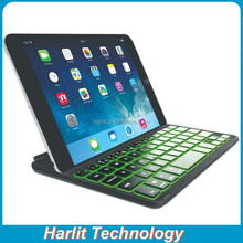 For iPad Mini Bluetooth Keyboard Case Backlit Optional Aluminum Wireless Keyboard For iPad Mini With Magnetic Clip Auto Sleep