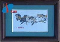 titanium artware painting eight horses artware