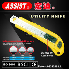 ASSIST yuyao factory easy cut 18mm utility knife 01-L3 co-molded utility knife