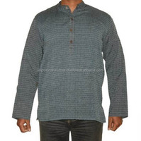 Latest Kurta Designs For Men Cotton Plain Kurta Men's Short Kurta