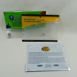 new design high quality fishing bait ziplock bag with great price