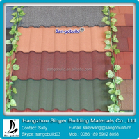 Low Cost Aluminum Colorful Stone Coated Metal Roofing Tiles