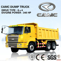 China CAMC 6*4 truck dump truck price (Engine Power: 340HP, Payload: 20-40T)