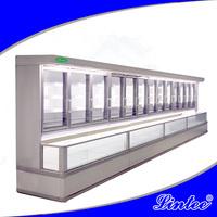 Lintee Supermarket twin freezer and refrigerator container for frozen dumpling bread