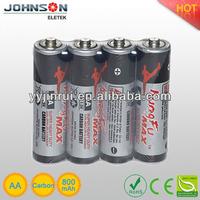 Zinc carbon R6 UM3 AA battery