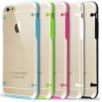 For iPhone 6 6s 6plus 6splus Case Slim Transparent Crystal Clear Hard TPU Back Cover