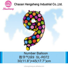 Mini inflatable number promotional balloon advertising balloon