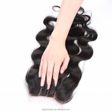 Mongolian Body Wave Lace Closure Bleached Knots Unprocessed Cheap Virgin 100% Human Hair Closure With Baby Hair