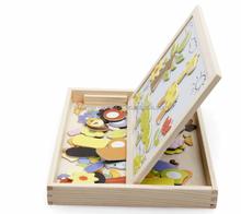 magnetic wooden puzzle, 3D wooden brain teaser puzzle