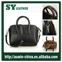 Hot Sale New Fashion Snake Leather Effect Elegant Woman Pure Genuine Leather Bag