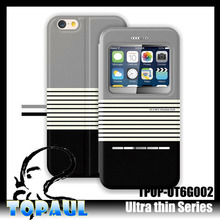 hot leather case customize mobile phone cover for iphone6