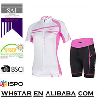 Dri fit polyester custom womens and mens bicycle clothing sets women