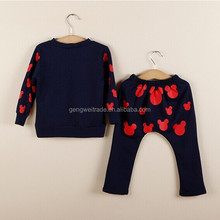 Small Mickey Head Suits Kids Suits Autumn Children Sets