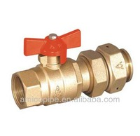 Forging brass ball Valve for water meter