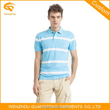 Cotton Polyester Blend Polo Shirt,Mens Pique Polo t-Shirt With Engineering Stripes,Bluk Men's Polo Shirt