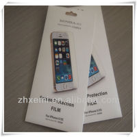 Direct factory Price-A-class PET material screen protector for iphone 5/5s