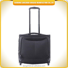 2015 ODM factory sale heavey duty trolley laptop bag cheap polyester built in trolley bag in China