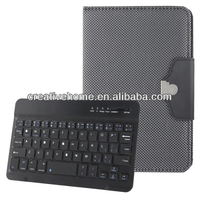Bluetooth Keyboard + Plaid Texture Leather Case for Samsung Galaxy Tab / P3200 / P3100 / iPad mini, 7~7.9 inch PC Tablet