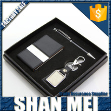 Wholesale Ball Pen Key Chain Business Card Holder Gift Sets