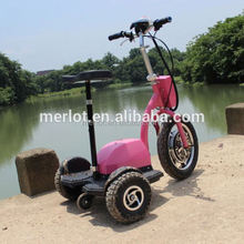 Novo design de três rodas de pé barato ciclomotores com grande pneu dianteiro