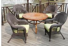 2015 New Cane Hand-Knitted Alumi PE Wicker Sofa Set Garden Outdoor Furniture