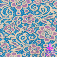 baju kurung modern 2015 cheap double color elastic stretch Lace fabric for garment apparel fabric