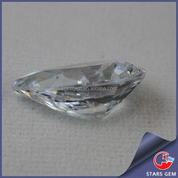 Pear cut clear color zirconium dioxide loose stone