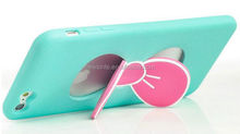 silicone cell phone case for iphone5 with holder