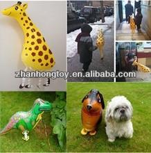2014 Hot Sale 18 Inches Helium Foil Mylar Walking Pet Animal Balloon