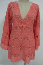 las mujeres del algodón del ganchillo suéter del suéter