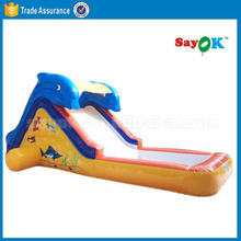 Cheap inflatable dolphin water slides for sale